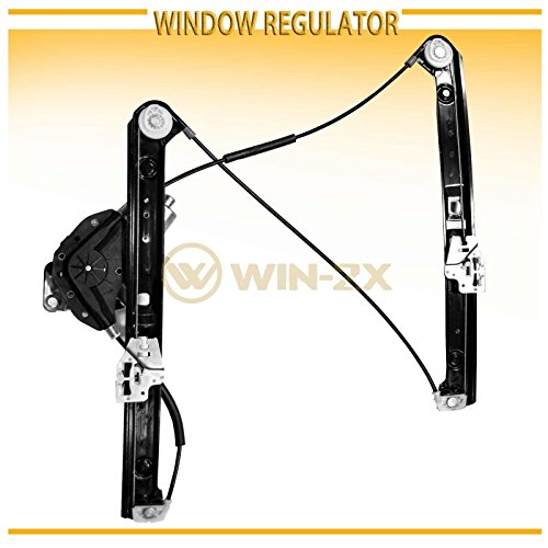 WIN-2X New 1pc Front Driver Left Side Power Window Regulator With Motor Assembly Fit 99-05 BMW E46 3-Series 4-Door Sedan/5-Door Wagon