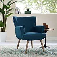 Modway EEI-2941-AZU Cloud Mid-Century Modern Upholstered Fabric Accent Arm Chair Azure