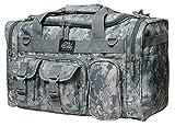 NPUSA 18″ Tactical Duffle Military Molle Gear Shoulder Strap Range Bag TF118 DM Digital Camouflage