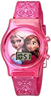 Disney Kids' FZN3560 Frozen Anna and Elsa Digital-Display Pink Watch from Disney