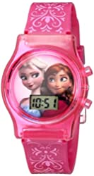 Disney Kids' FZN3560 Frozen Anna and Elsa Pink Watch with Plastic Band
