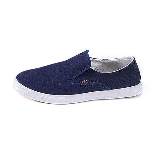 Zapatos de Hombre Mocasines de Punta Redonda Zapatos Perezosos Zapatos Antideslizantes Zapatillas de Primavera y Verano Azul/Negro 39-44: Amazon.es: Zapatos ...