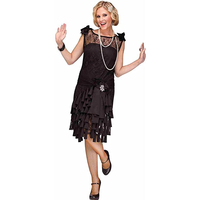 Roaring 20s Costumes- Flapper Costumes, Gangster Costumes Flirty Flapper Costume Fun World Womens $32.12 AT vintagedancer.com
