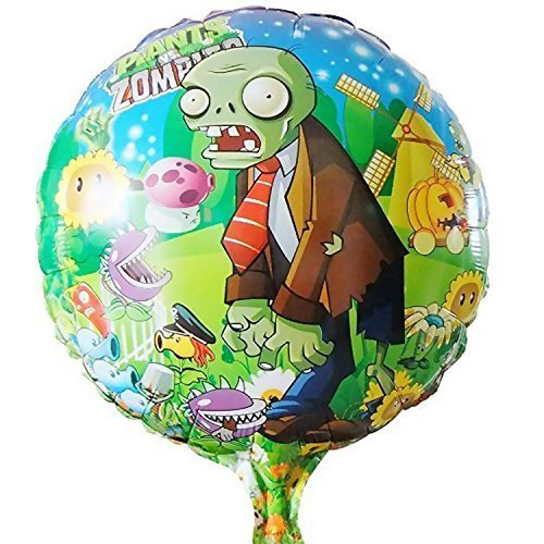 10pcs/lot Plants Vs Zombies Balloon Birthday Party Supplies 45*45cm Halloween Balloons Boy -