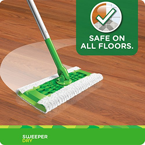 Swiffer Sweeper Dry Mop Refills for Floor Mopping and Cleaning, All Purpose Floor Cleaning Product, Unscented, 52 Count (Packaging May Vary)