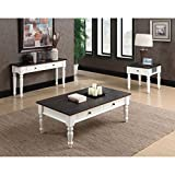 Antique White Coffee Table Emerald Home Furnishings T6013 Mountain Retreat Coffee Table, Standard, Dark Mocha