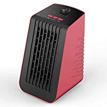 Lifesmart 400W Desktop Portable Heater,Ceramic Heater,Personal Heater (Red)