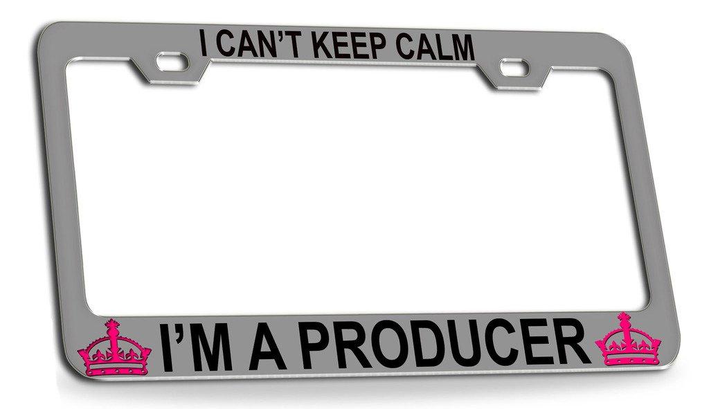 Amazon com: I CAN'T KEEP CALM I'M A PRODUCER Chrome Steel License