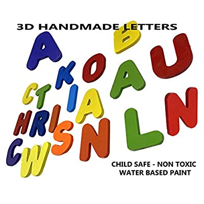 Wooden Personalized 3 Name Puzzle - Choose up to 36 Letters. Learning Educational Toys: Toys & Games
