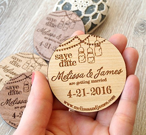 Save the date magnets wedding save the dates save the date wooden magnets engraved wedding magnets rustic save the dates set of 25