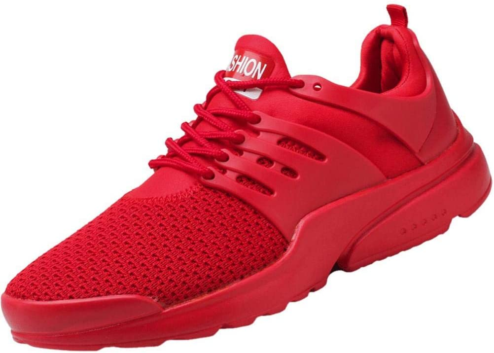WWricotta LuckyGirls Zapatillas de Correr Hombre Color Puro Malla Casual Cómodas Calzado de Deporte Transpirables Zapatos Planos Bambas de Running: Amazon.es: Deportes y aire libre