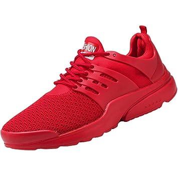 WWricotta LuckyGirls Zapatillas de Correr Hombre Color Puro Malla Casual Cómodas Calzado de Deporte Transpirables Zapatos Planos Bambas de Running: ...