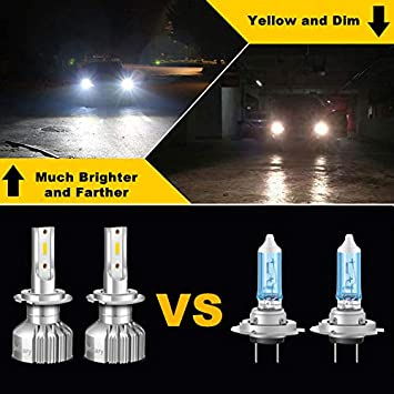 INFITARY 9007//HB5 LED Headlight Bulbs Conversion Kit Hi//Lo 10000LM 6500K Super Bright White High Low Dual Beam Plug/&Play Car Motorcycle Replacement Headlamp