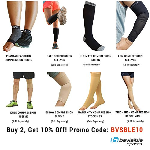 BeVisible Sports Plantar Fasciitis Socks - High Performance Compression Foot Sleeves With Arch Support For Men and Women - Helps Boost Circulation, Reduces Swellings For Foot and Heel Pain Relief by BeVisible Sports (Image #5)