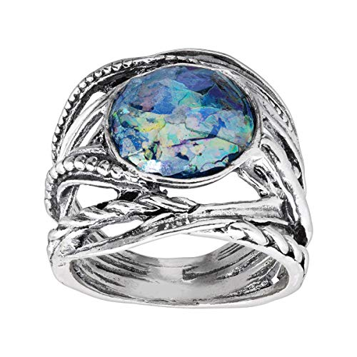 Silpada 'Ariminum' Roman Glass Ring in Sterling Silver
