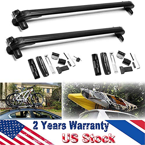 ZanGe for Toyota Prius 2002-2016 2Pcs 43Inch Car Roof Rack Window Mount Rail Cargo Cross Bar Top Luggage Carrier Aluminum Adjustable Removable Without Rails with Anti Theft Lock System
