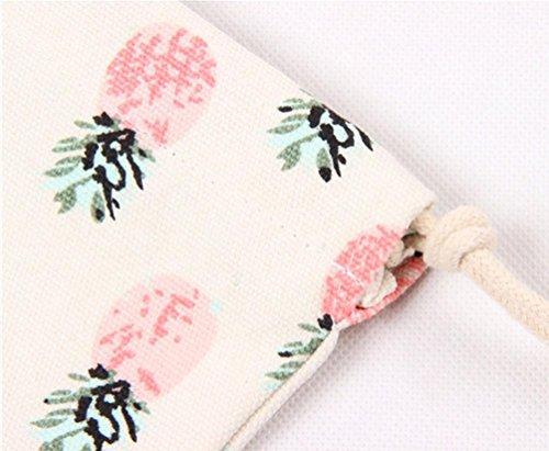 Bag Storage Travel Port Bag Beam Drawstring Bag Canvas Gift Printing Pineapple Vibola O1w04q0