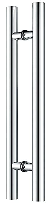 Canzak 18 inch brushed stainless steel pull push door handles canzak 18 inch brushed stainless steel pull push door handles interior or exterior contemporary modern amazon planetlyrics Image collections