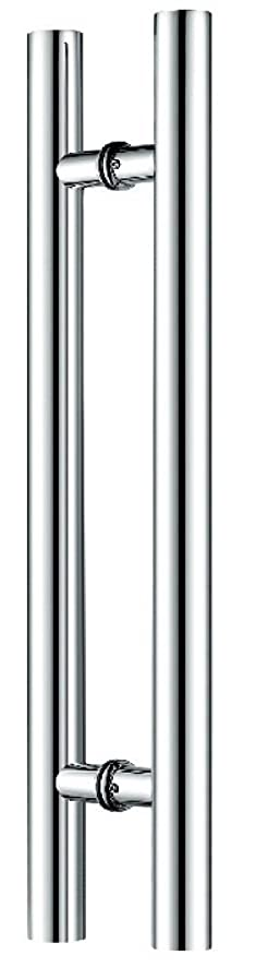 Canzak 24 inch Brushed Stainless Steel Pull Push Door Handles ...