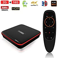 ESHOWEE M8S PRO Voice Control TV Box Android 7.1 Amlogic S905W Quad-core 64 Bit DDR3 2GB 16GB 2.4 WiFi 4K UHD