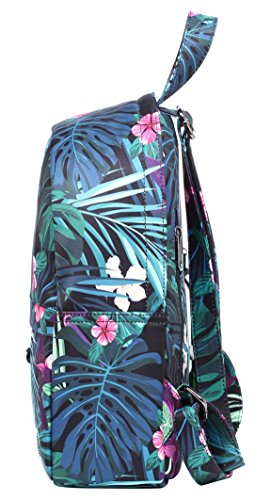 OLETHA Mochila Bolsos Mujer Pequeños | A4 formato | 34x23x11cm | Plata D212B, Selvas