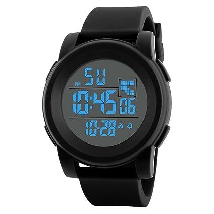 Relojes Deportivos Digitales,Logobeing Militar Del Ejército Llevó Reloj de Pulsera Impermeable (Negro)