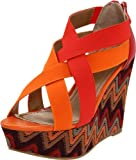 Diba Women's Dig It Wedge Sandal,Orange,9 M US