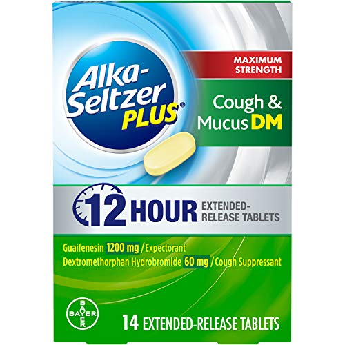Alka-Seltzer Plus Maximum Strength Cough & Mucus Dm, 12 Hour Relief That Thins & Loosens Mucus & Controls Cough, 14 Extended Release Tablets