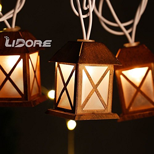 Outdoor Lantern String Lights Bronze - 3