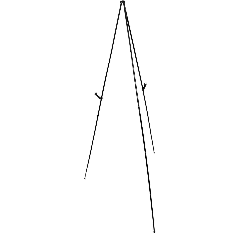 Easy-Folding Easel Black Steel 63 in Tall Display Easel