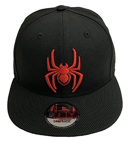Black Spiderman Hat (New Era Spider-Man Diamond Tech Marvel Comics 9Fifty Snapback Cap Hat)