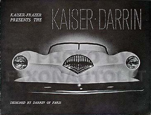 "1954 ""Kaiser-Frazer Presents the Darrin"" Reprint Sales Brochure"