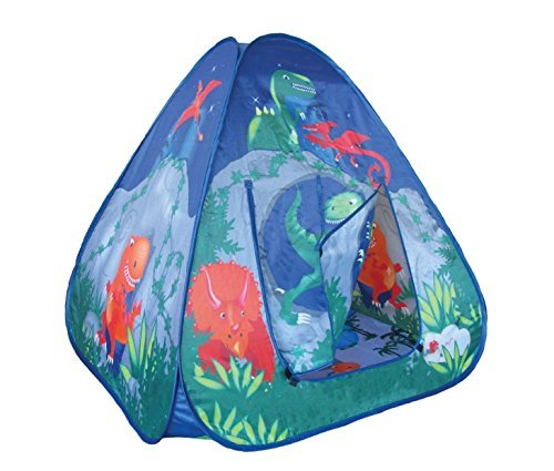 Childrens Pop Up Play Tent Dinosaur Cave With Unique Printed Playmat by Pop-Up