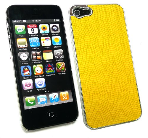 Emartbuy ® Apple Iphone 5 Textured Yellow Clip On Protection Case / Cover / Skin