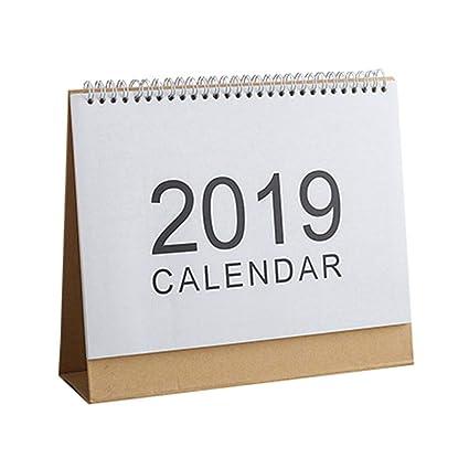 Calendario de escritorio mensual 2019, calendario mensual de mesa ...