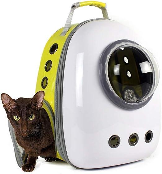 Productos para mascotas / Perros / Transportadoras JXLBB Espacio Amarillo y Blanco Space Classic Space Pet Bag out Perro portátil Hombro Cat Bag Cage Bag Cat Backpack: Amazon.es: Productos para mascotas