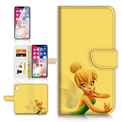 ( For iPhone X ) Flip Wallet Case Cover & Screen Protector Bundle! A40299 TinkerBell