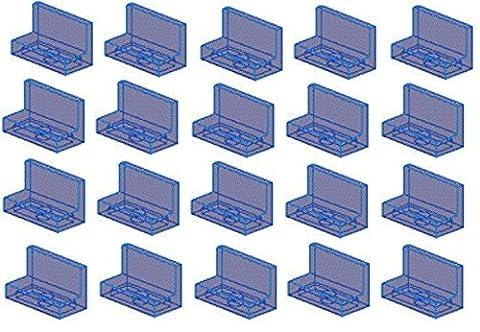 LEGO Parts: Trans-Dark Blue Panel 1 x 2 x 1 Studs - x20 Loose - Sand Mad Cat
