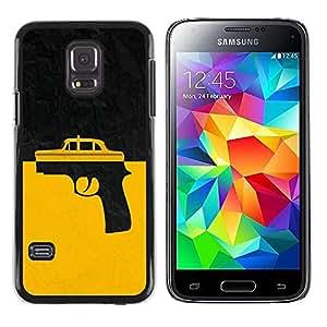 Be Good Phone Accessory // Dura Cáscara cubierta Protectora Caso Carcasa Funda de Protección para Samsung Galaxy S5 Mini, SM-G800, NOT S5 REGULAR! // Taxi Gun Taxi Driver
