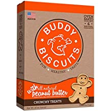 Cloud Star Buddy Biscuits Dog Treats, Peanut Butter , 16-Ounce Boxes (Pack of 6)