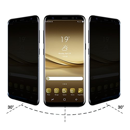 Everlife Shop Mobile Phone Tempered Glass Film 3D Curved Full Cover Anti-spy Screen Protector for Samsung Galaxy S8 Plus Transparent Black Covers Shop