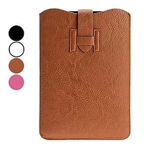 conseguir Exquisitos PU bolsas de cuero para iPad Mini y otros (colores surtidos) , Marrón