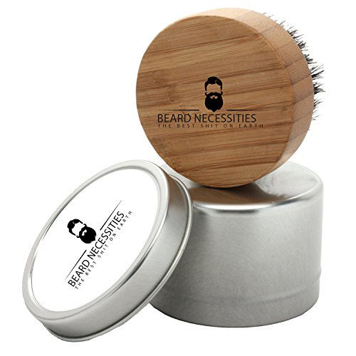 Beard Brush For Men By Beard Necessities - Made With Pure Boar Bristles and Bamboo. Add To Any Grooming Kit To Enhance Facial Hair. Get Your Best Beard - Hair To Style How Facial