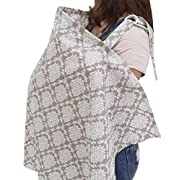 Chalier Privacy Breast Feeding Cover Nursing Cover, Nursing Apron Nursing Cover Ups for Breastfeeding Baby in Public - Full Coverage, 100% Breathable Soft Cotton, Stylish and Elegant