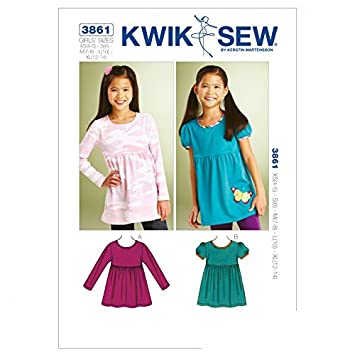 Kwik Sew Schnittmuster für Mädchen Top 3861-O/S): Amazon.de: Küche ...