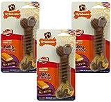 (3 Pack) Nylabone Flavor Frenzy Dura Chew Cheesesteak Flavored Bone Dog Chew Toys- Size Wolf/Medium Review