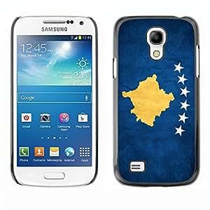 Shell-Star ( National Flag Series-Kosovo ) Snap On Hard Protective Case For Samsung Galaxy S4 MINI / i9190 / i9192