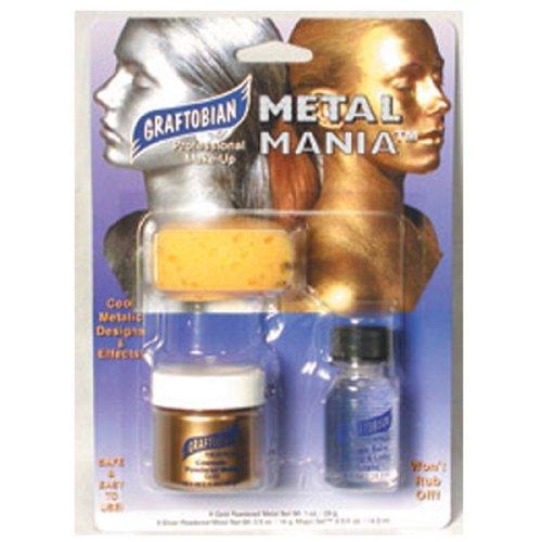 Party Mania Costumes (Graftobian Metal Mania Makeup Kit Gold 1 oz./26 g)