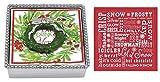 Mariposa Beaded Napkin Box with Green Wreath Napkin Weight & 2 sets of Napkins