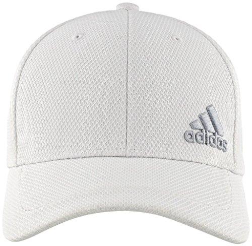 - adidas Men's Release Stretch Fit Structured Cap, White/Clear Grey, Large/X-Large